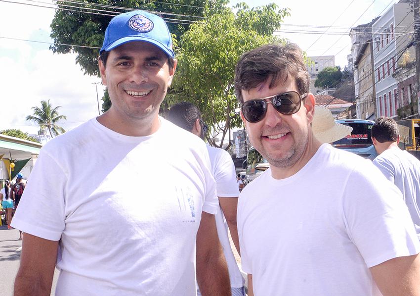 Pedro Lima e Sílvio Pinheiro presentes na festa do Bonfim