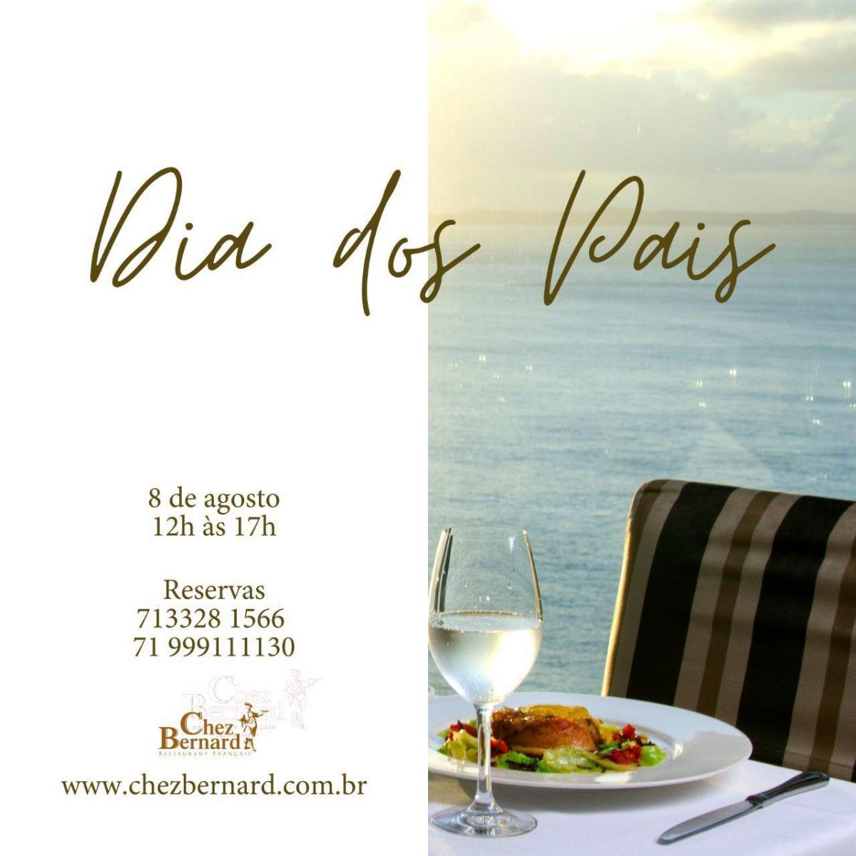 Fique com o melhor restaurante francês para jantar nos dias dos pais, Chez Barnard na rua Gamboa de Cima perto dos quartel dos Aflitos
