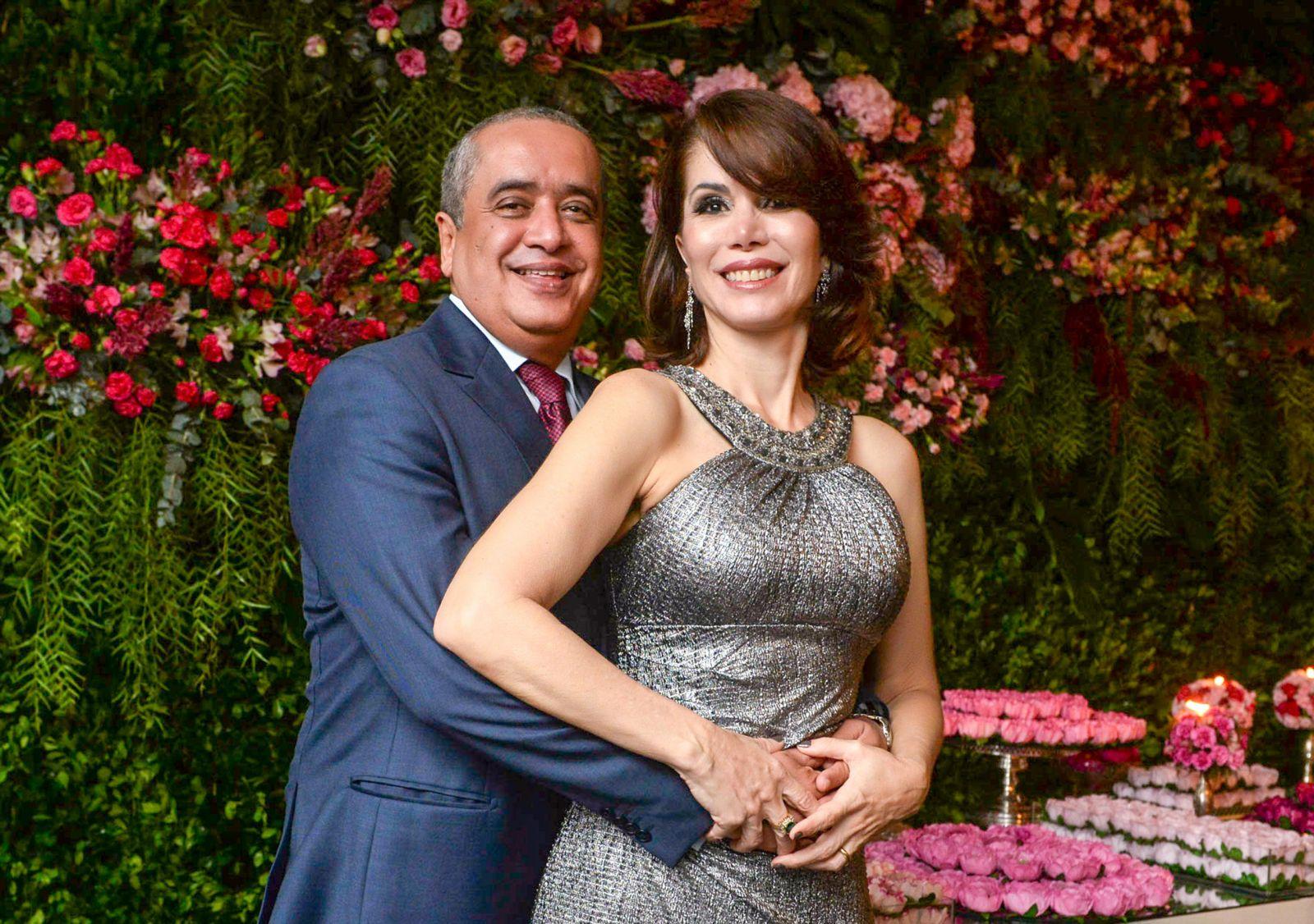 Silvana e Marcos Barroso, foram destaque nos 84 anos do Yacht Clube da Bahia