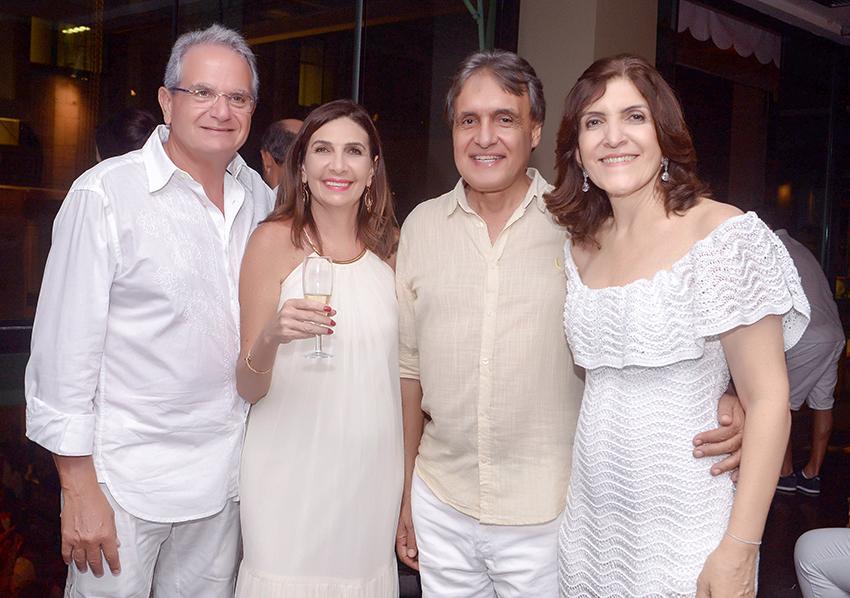 Kátia e Tony Towil, Rita e Miguel Pinto vão participar amanhã de Feijoada Yemanjá do Yacht Clube da Bahia
