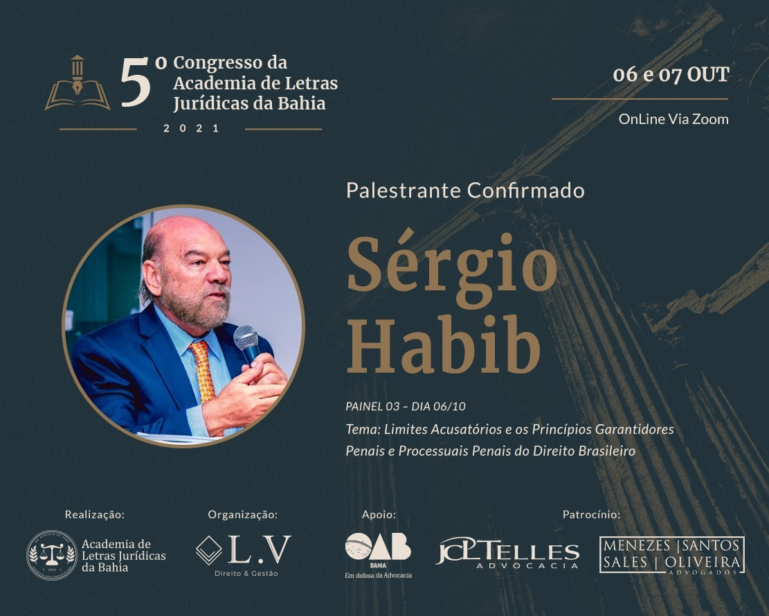 5º Congresso da academia de letras jurídicas da Bahia