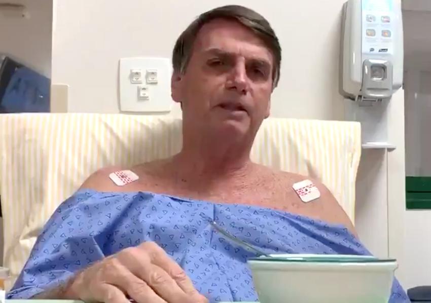 Do hospital, Bolsonaro cobra PF por mandante de atentado