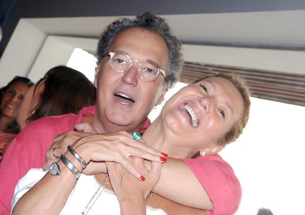 Eleusa e Senador Ângelo Coronel  Martins jantando ontem dia 20 de setembro no restaurante Chez Bernard