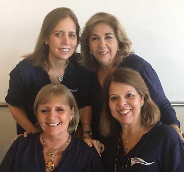 Mônica Carharino, Lavínia Machado, Sônia Leiro e Solange Dâmaso farão dia 12 de outubro a festa dos 40 da Escola Tempo de Criança