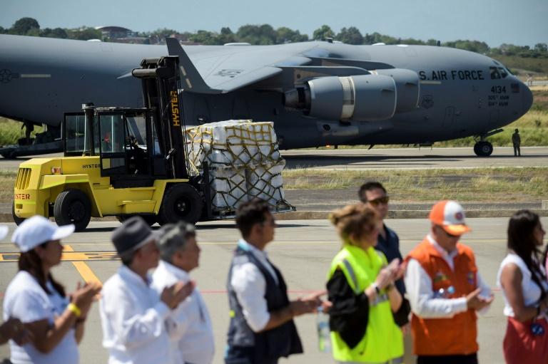A Venezuela acaba de receber mais um carregamento de ajuda vinda do Estados Unidos