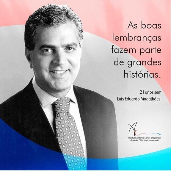 Fazem 21 anos que toda a Bahia e Brasília choraram a morte do deputado federal Luiz Eduardo Magalhães
