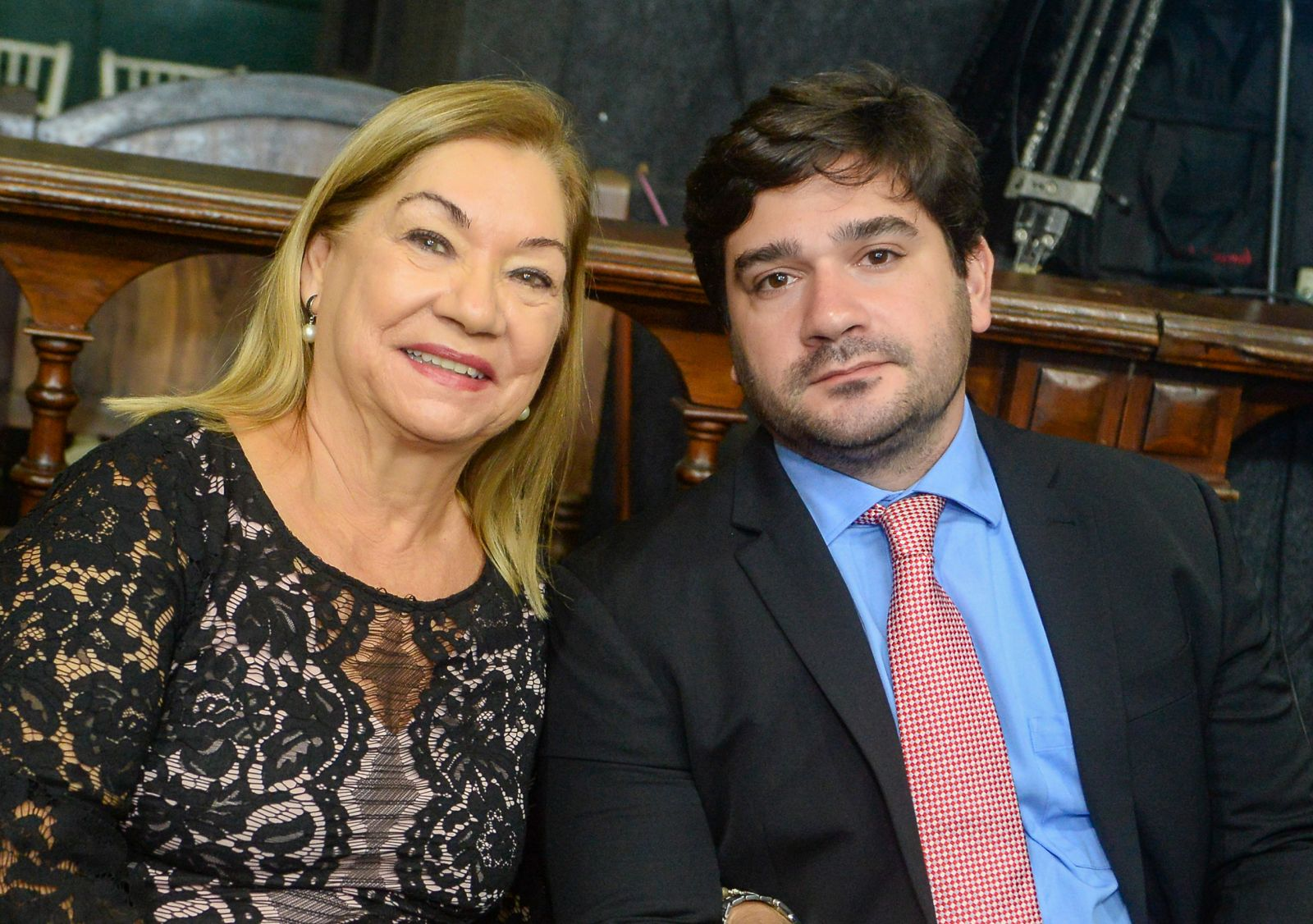 Benito Gama Filho com sua mãe Natal Gama o destaque político do dia 23 de outubro de 2019
