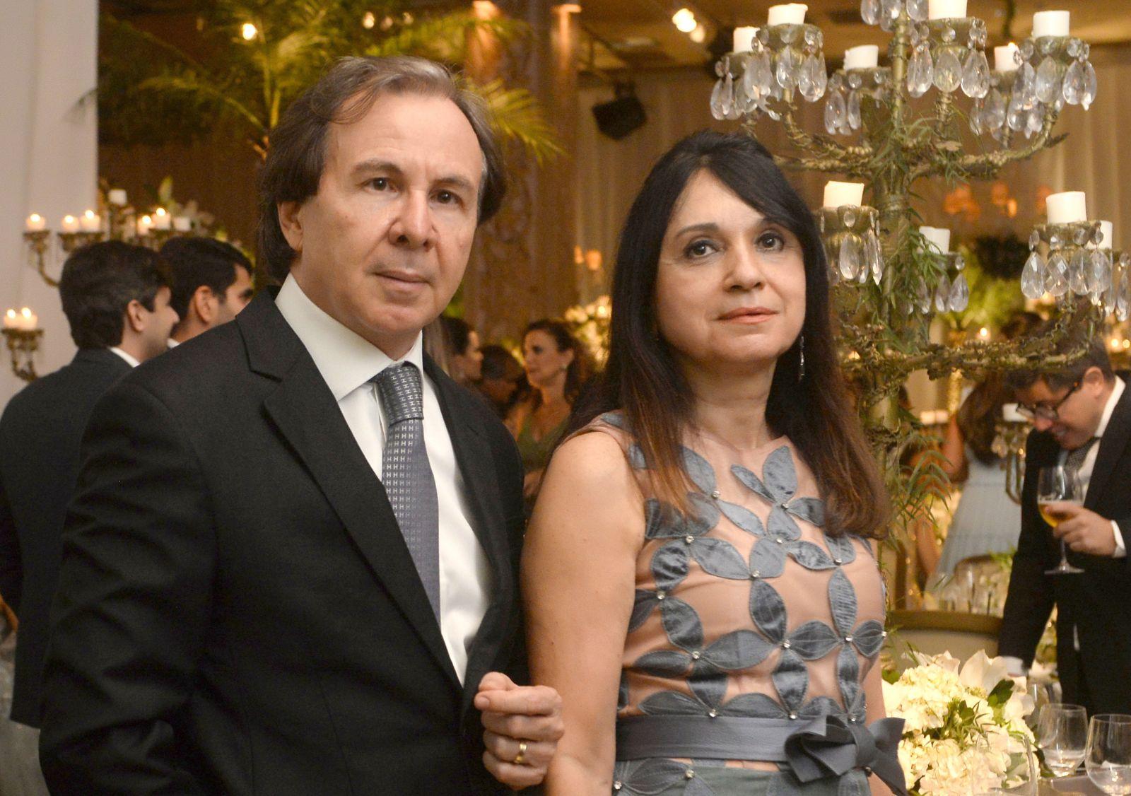 Giuseppe Belmonte e Rejane, foram destaque no casamento de Eduardo Schnitman e Natália Marchesini