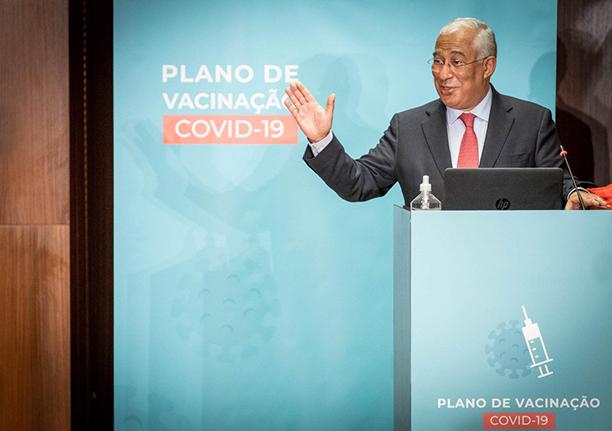 Governo de Portugal aprova plano de vacinação contra covid-19
