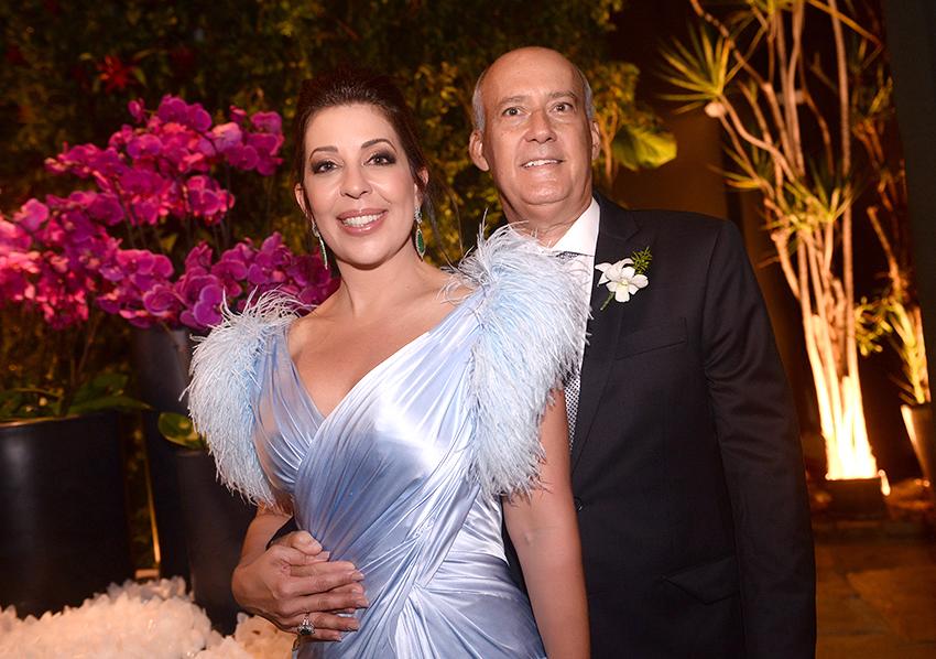 Moema Pitanga e Heitor Cunha foram destaque no casamento de Luma Pitanga e Filipe Pinto