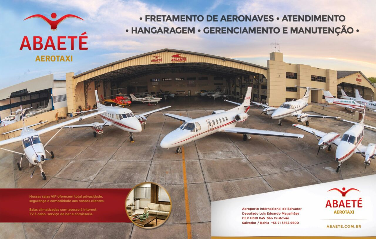 Abaeté Aerotaxi fretamento de aeronaves, hangaragem, gerenciamento e manutenção.