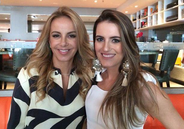 Marcella Brandalize a bela aniversariante, na foto ela está com sua mãe Larissa Bicalho