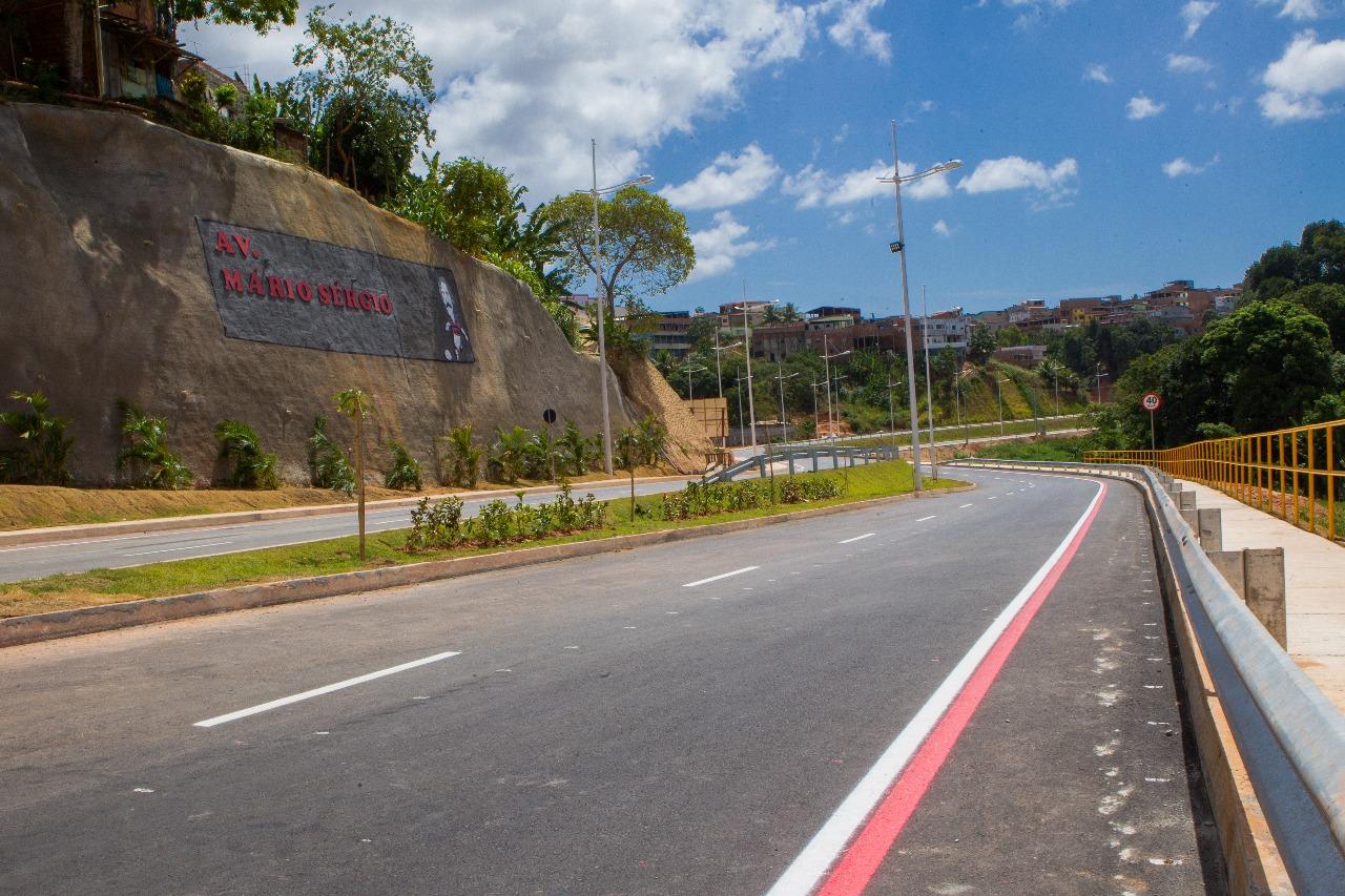 Avenida Mário Sérgio melhora mobilidade urbana no entorno do Barradão