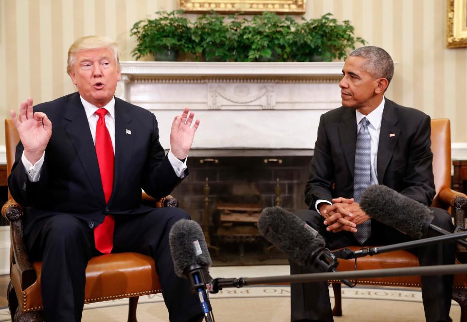 Barack Obama, e o presidente eleito Donald Trump se encontraram nesta quinta-feira na Casa Branca.