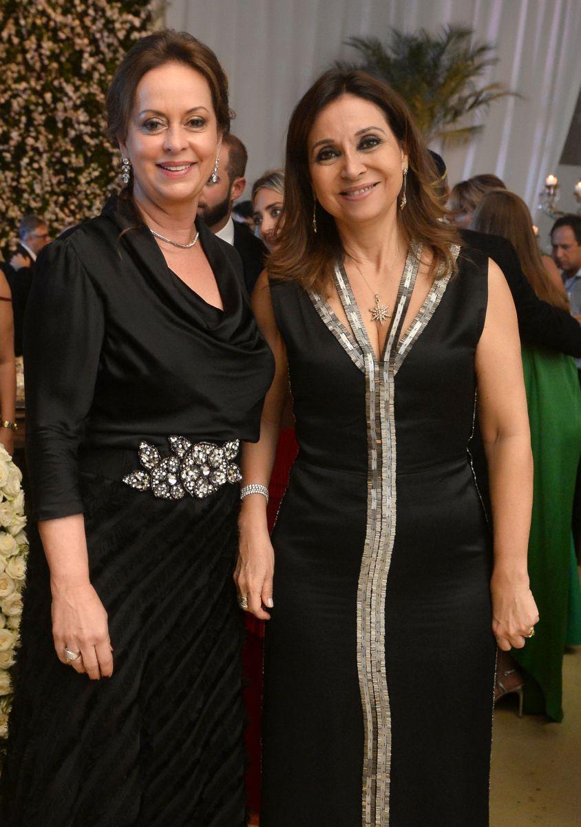 Célia Silva e Cristiana Mendonça Mathias foram destaque no casamento de Eduardo Schnitman e Natália Marchesini