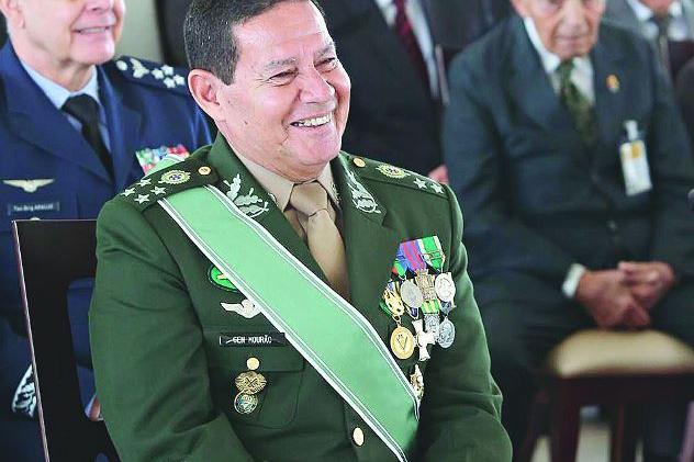 Mourão(vice-presidente) e o ministro general Heleno, rejeitam chance de golpe militar