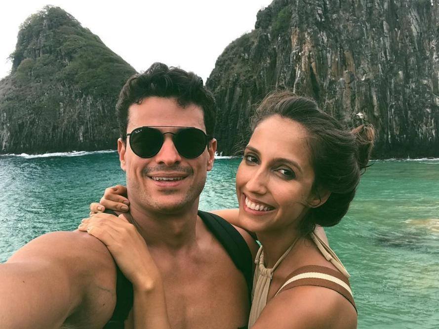 Alice Prado e Gabriel Fernandes: dias de romantismo em Fernando de Noronha
