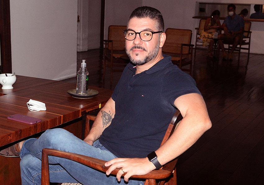 Flávio Machado sócio do Restaurante Amado em destaque para este Site valterio.com.br
