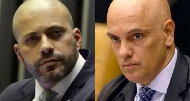 O deputado Daniel Vieira e os Ministros Alexandre de Moraes e Luiz Fux perderam os freios