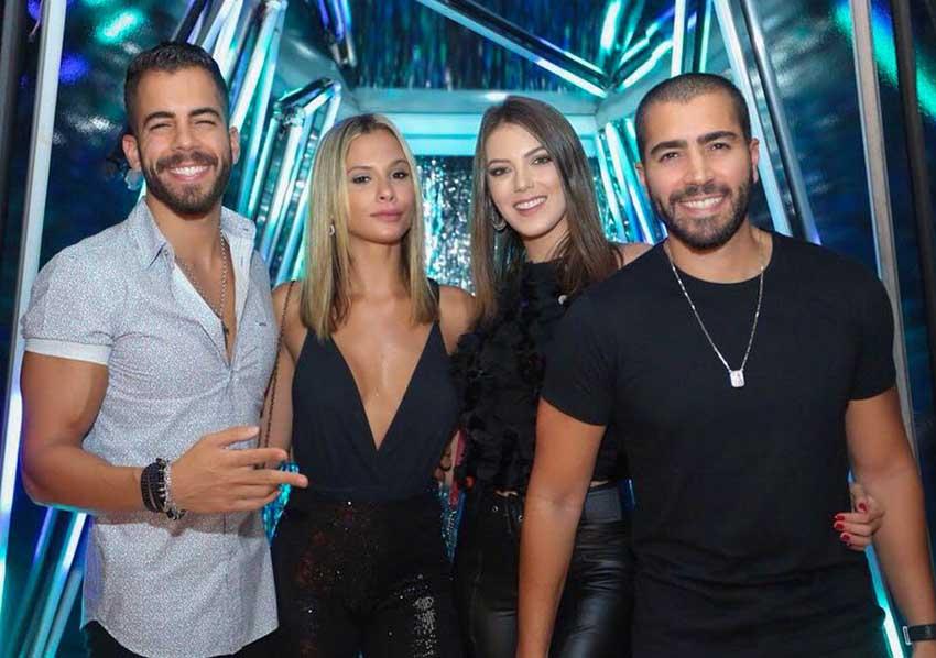 Rafa e Pipo marcaram presença no aniversário da cantora Anitta no Rio