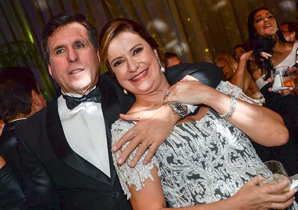 Denise Martinelli e Antonio Carlos Matteoni Athayde no aniversário de Milton Martinelli