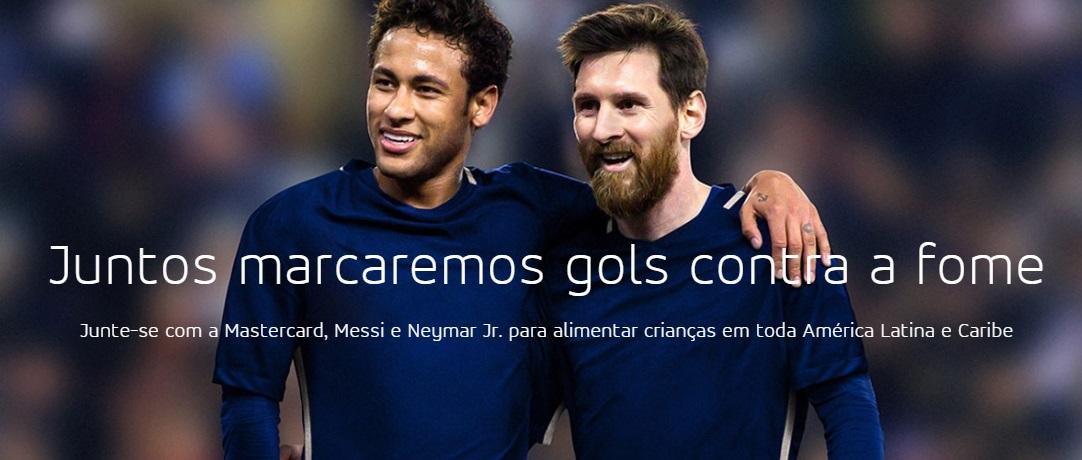 A Mastercard está focando no social e terá Neymar e Lionel Messi como iniciativa para combater a fome