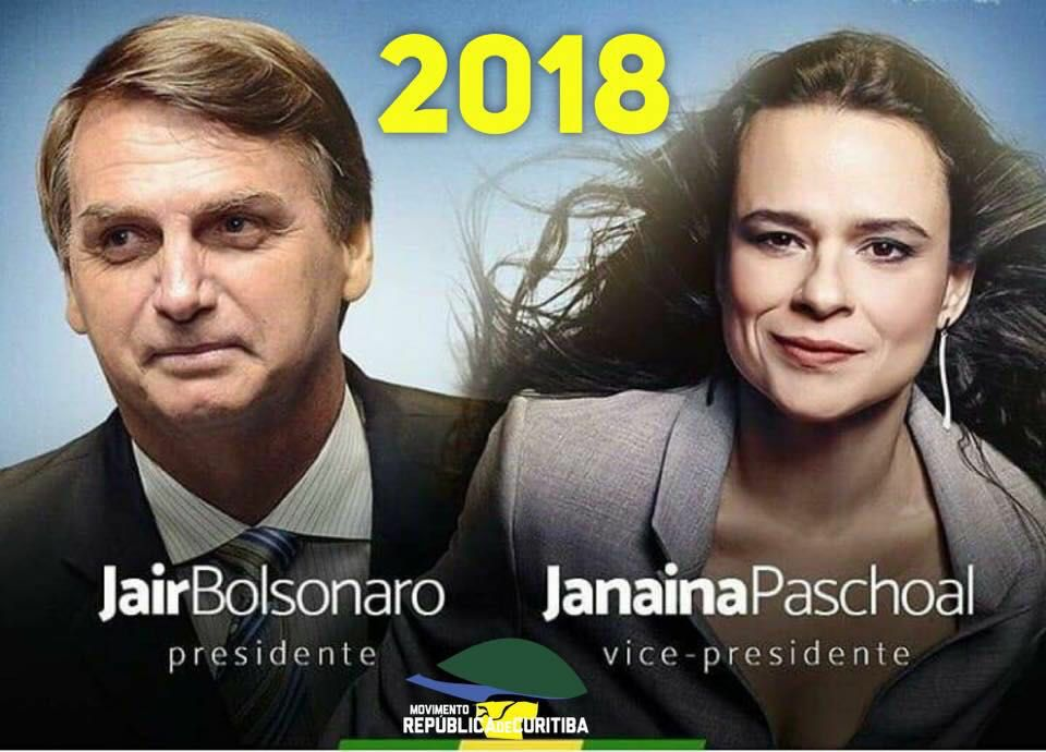 A advogada Janaina Paschoal aceita ser a vice de Bolsonaro à Presidência da República