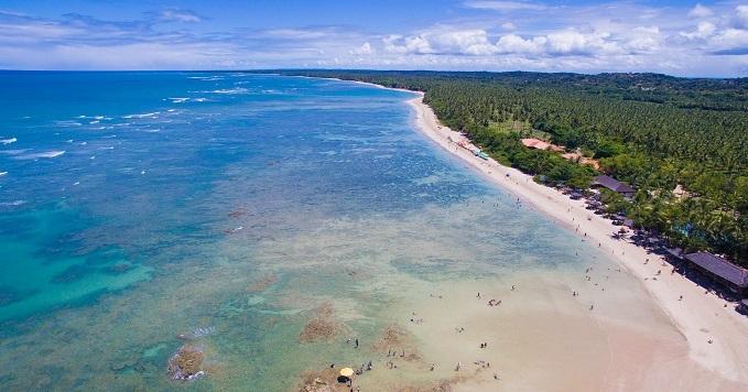 Das praias selecionadas, só duas baianas aparecem na lista: Quarta Praia de Morro de São Paulo e Praia da Pitinga em Arraial d' Ajuda.