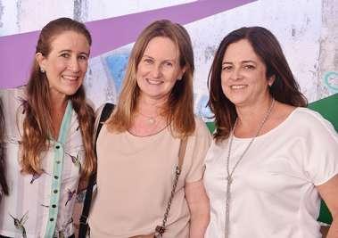 Marcela Lomanto, Verônica Machado Cunha Guedes e Sandra Valente Sande em fotos de Valterio