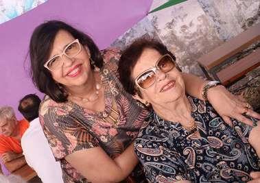 Angela e Mariinha Costa Lino em fotos de Valterio
