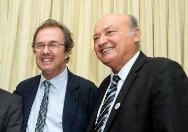 Javier Moro e Joaci Góes escritores e palestrantes em fotos de Valterio