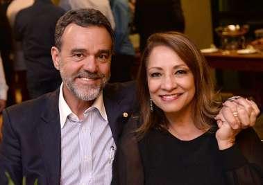 Deputado Daniel Almeida e Tânia,  na festa do Bem de Irmã Dulce em fotos de Valterio
