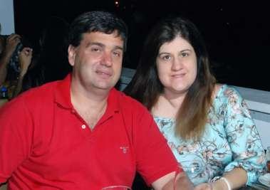 Marcelo Weckerle no dia dos namorados com Alina em fotos de valterio