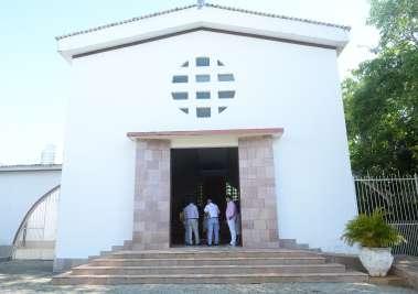Capela Monte Carmelo onde aconteceu o batizado de Maria Luiza Silva Varelo em fotos de Valterio