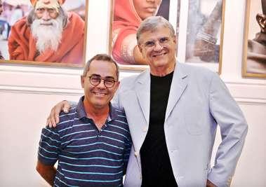 Beto da OBJETIVA com o expositor Armando Correa Ribeiro