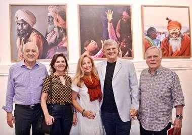 Junor, Sandra, Sinísia e Armando Correa Ribeiro e Buba Weckerle em fotos de valterio