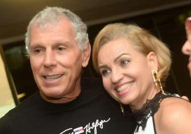 Administrador do Yacht Clube da Bahia Jorge Simões e sua esposa Ângela Simões em fotos de Valterio