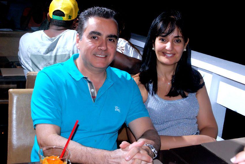 Jorge Olivaes e Tatiana jantando no Soho