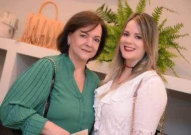Vera Magalhães com a filha Eduarda Magalhães