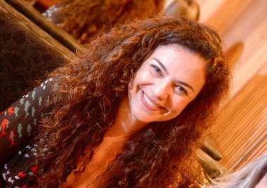 Atriz Carol Fazu no restaurante Soho de Salvador em fotos de Valterio Pacheco