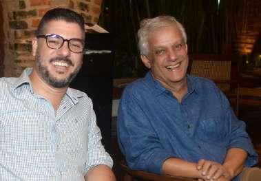 Flávio Bandeira e Edinho Engel em fotos de Valterio