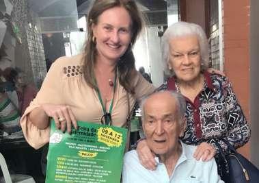 Verônica Machado com os sogros Matilde e Alexandre Cunha Guedes