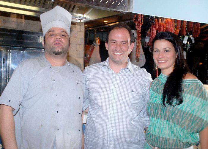Maria Carmen e Fred Barreto de Araújo os donos da mercearia todos os santos na Bahia marina com o chef da casa Alessandro Narduzzi