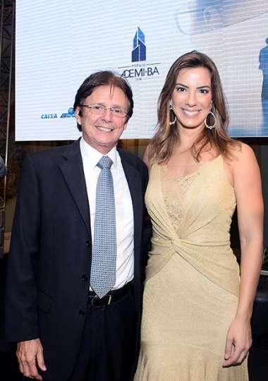Guto Amoedo da Amoedo & Brasil Broker e a apresentadora Jéssica Smetak