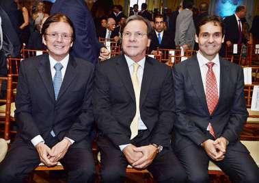 o trio de ouro da Amoedo & Brasil Broker, Guto Amoedo, Gustavo Brito e Claudio Cunha em fotos de Valterio