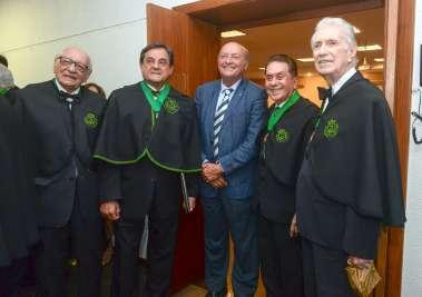 Dr. Geraldo Leite, Dr. Antonio Carlos Vieira Lopes, Dr. Joacy Góes, Dr. Agnaldo David de Souza, Dr. Almério Machado em fotos de Valteiro