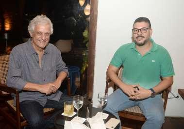 Edinho Engel e Flávio Machado sócio do restaurante Amado em Salvador