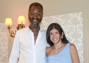 Cônsul da França Mamadou Gaye e Clara Lemos Calumby em fotos de Valterio