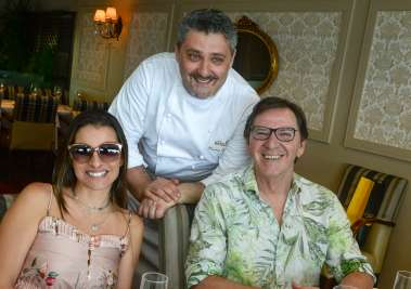 Chef Laurent Resette, Geisa Braga e Ronaldo Jacobina em fotos de Valterio
