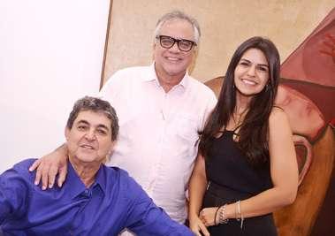 Paulo Darzé, Cláudio Portugal e Thais Darzé Aouad